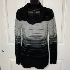 Black and gray striped sweater
